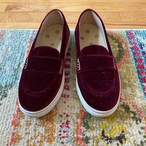 Boden velvet loafers